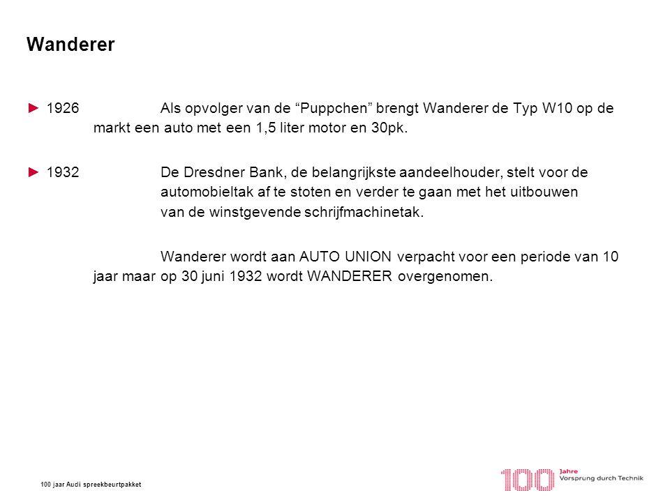 100 jaar Audi spreekbeurtpakket DWK ►1904Oprichting van Rasmussen & Ernst company in Chemnitz, het bedrijf maakt stoomketels.