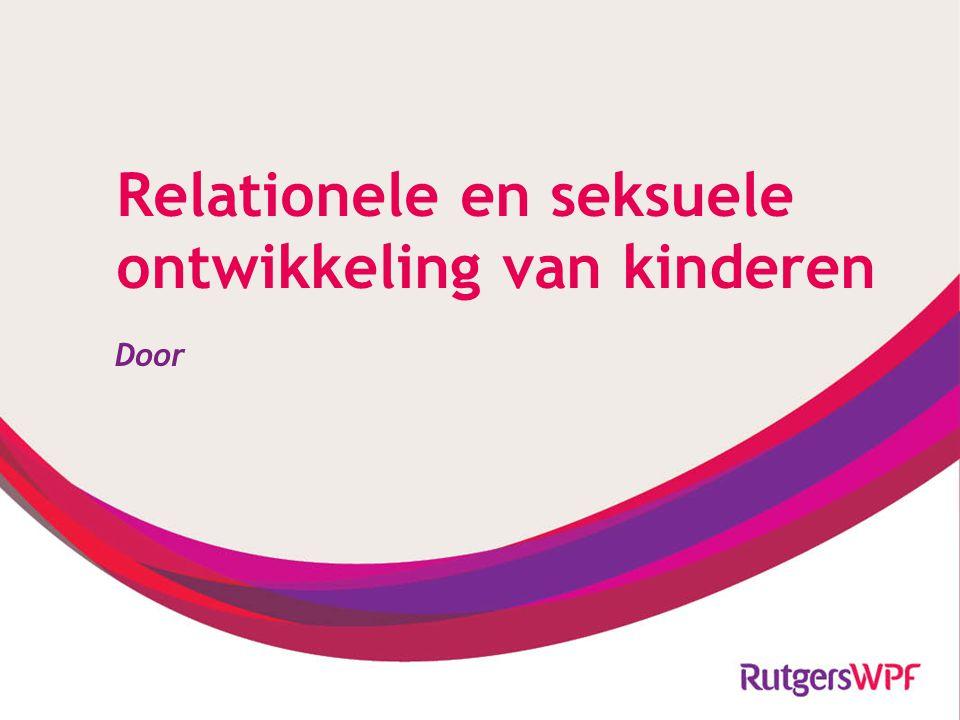 Relationele en seksuele ontwikkeling van kinderen Door