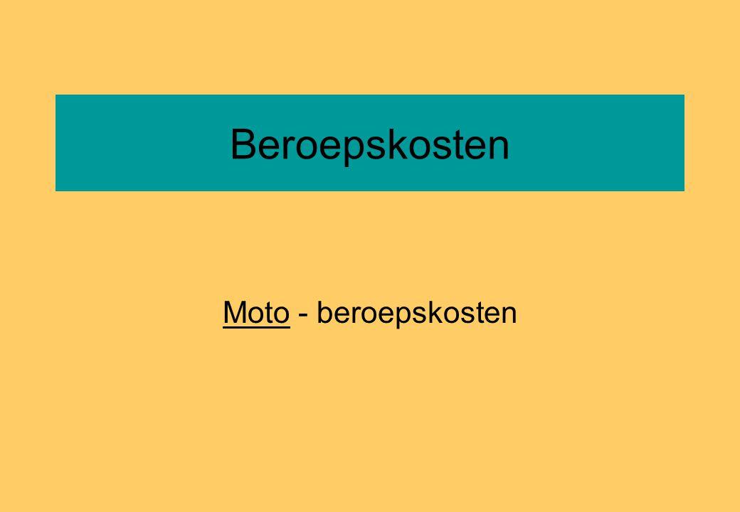 Beroepskosten Moto - beroepskosten