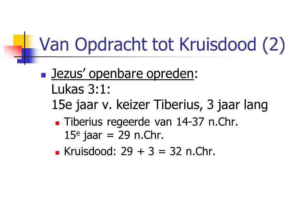 Van Opdracht tot Kruisdood (2)  Jezus' openbare opreden: Lukas 3:1: 15e jaar v.