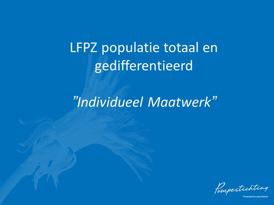 """LFPZ populatie totaal en gedifferentieerd """"Individueel Maatwerk"""""""