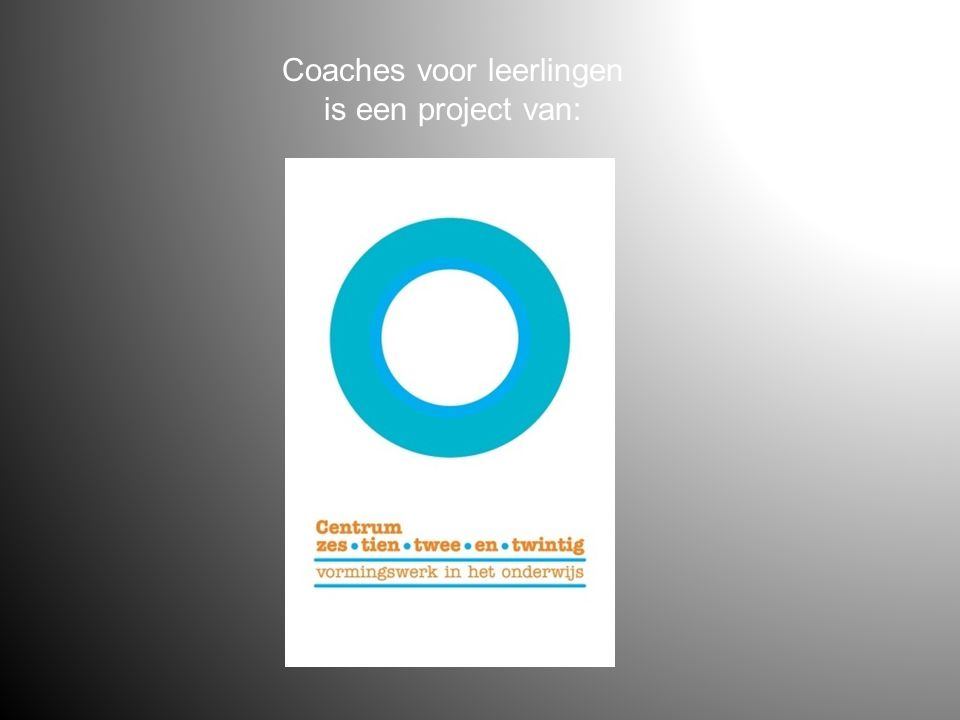 Coaches voor leerlingen is een project van: