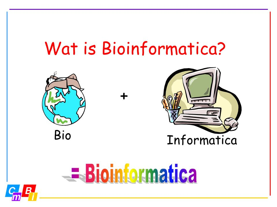 Wat is Bioinformatica? Bio Informatica +