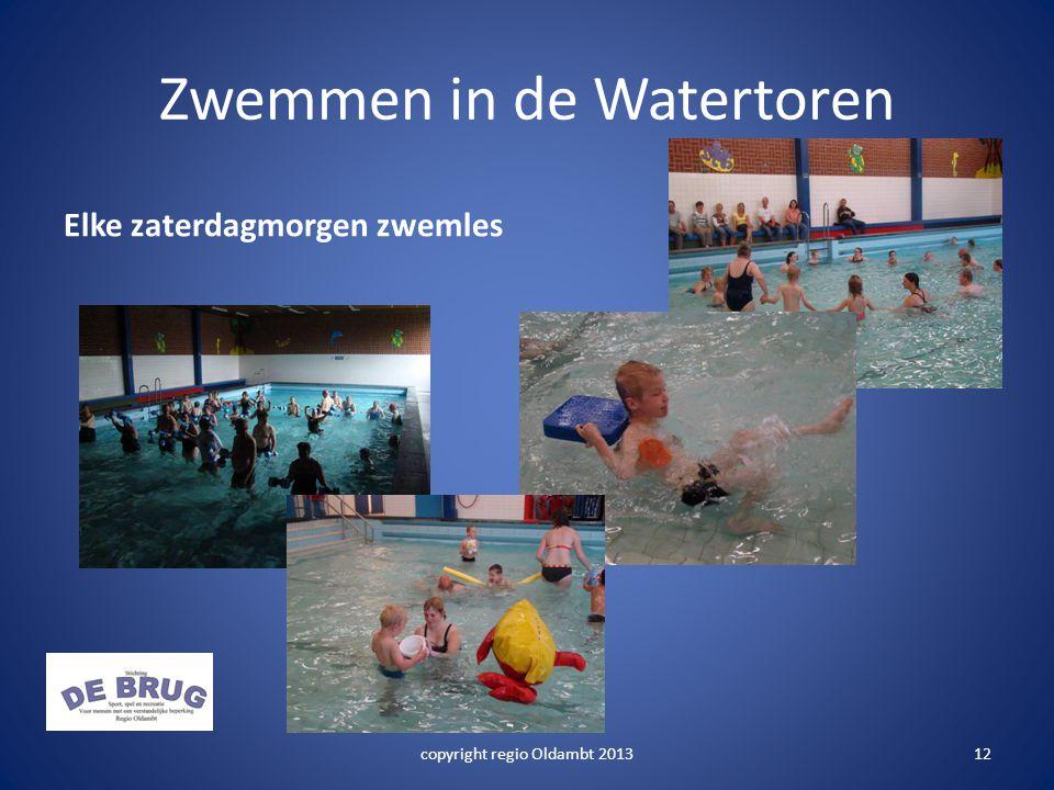 Zwemmen in de Watertoren Elke zaterdagmorgen zwemles copyright regio Oldambt 201312