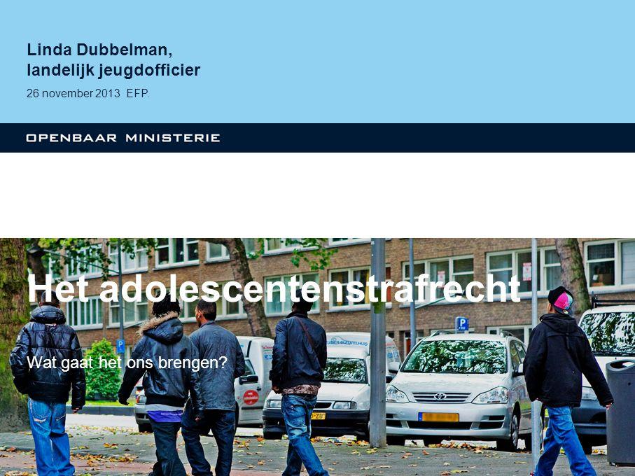 Het adolescentenstrafrecht Wat gaat het ons brengen.