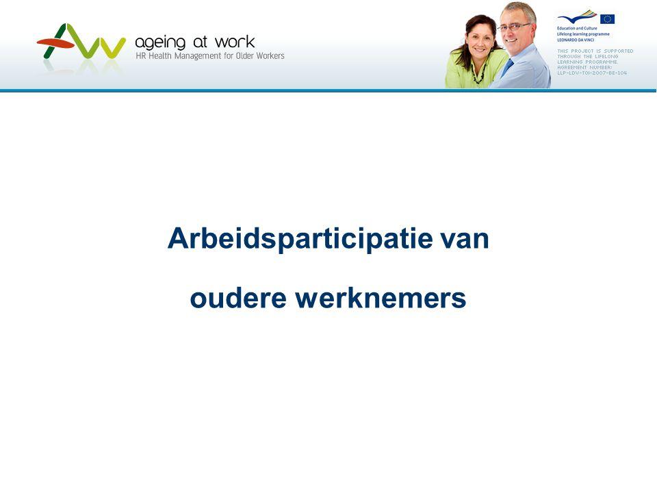 Arbeidsparticipatie van oudere werknemers