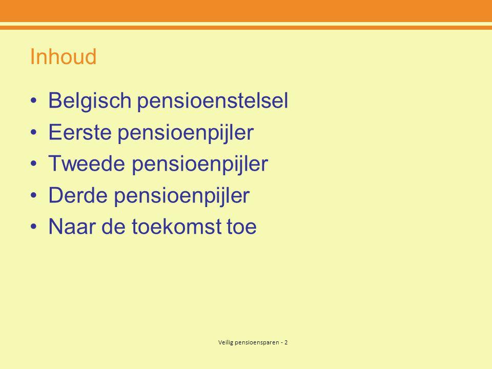 Veilig pensioensparen - 33 4.Derde pensioenpijler 4)Voorwaarden .