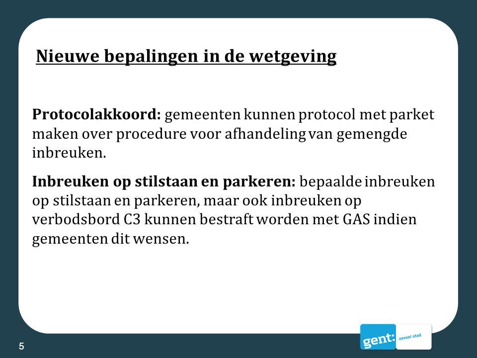 Nieuwe bepalingen in de wetgeving Protocolakkoord: gemeenten kunnen protocol met parket maken over procedure voor afhandeling van gemengde inbreuken.