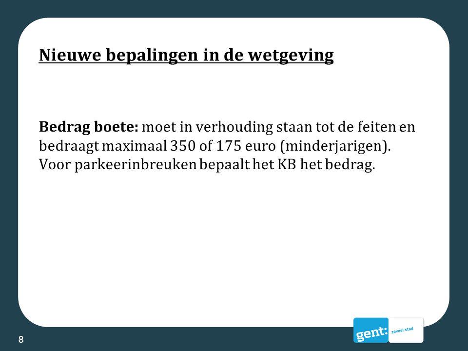 Beleid in Gent: voorstellen stadsbestuur Maatschappelijk verantwoorde trajecten en sancties voor minderjarigen: -Geen verlaging van minimumleeftijd -Gemengde inbreuken (type GAS2 en 3) blijven bij parket -Verderzetting project First Offenders -GAS 1 bij <16 jaar: alternatief traject (brief + opvolging Jeugdinspecteur) 9
