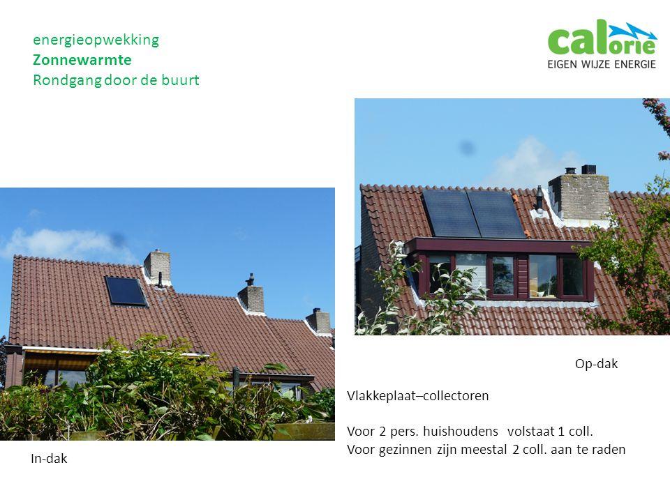 energieopwekking Zonnewarmte Rondgang door de buurt Op-dak Vlakkeplaat–collectoren Voor 2 pers.