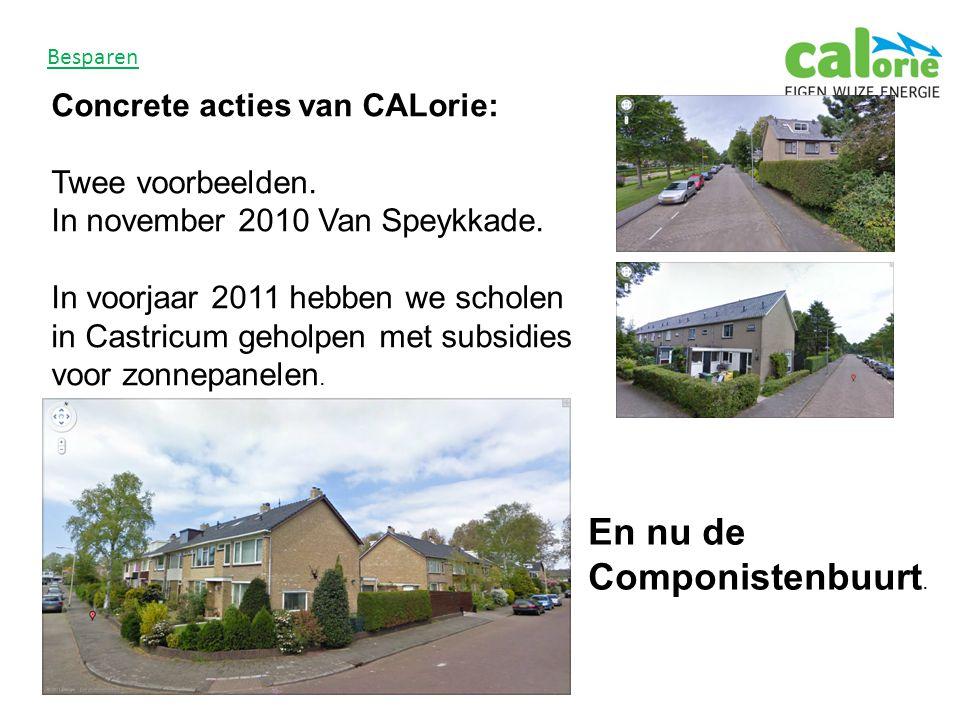 Besparen Concrete acties van CALorie: Twee voorbeelden.
