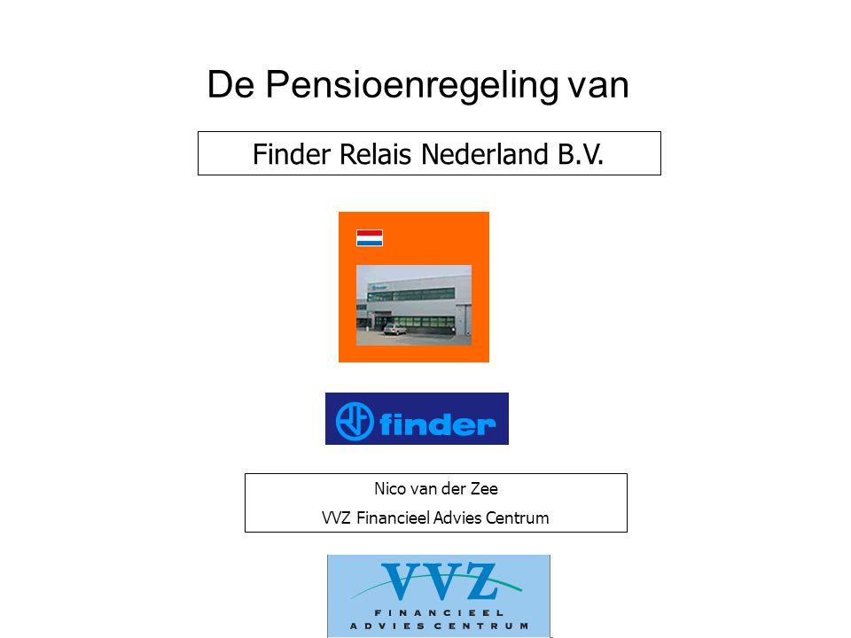 De Pensioenregeling van Nico van der Zee VVZ Financieel Advies Centrum Finder Relais Nederland B.V.