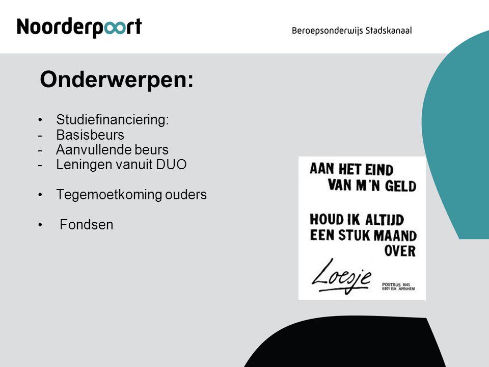 Groninger Studiefonds (subsidie) Fonds voor school, studie- en reiskosten voor mensen die woonachtig zijn in de provincie Groningen.