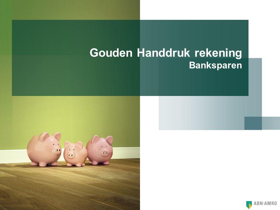 Gouden Handdruk rekening Banksparen