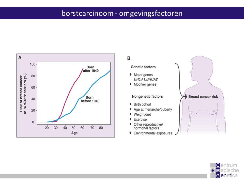 borstcarcinoom - omgevingsfactoren