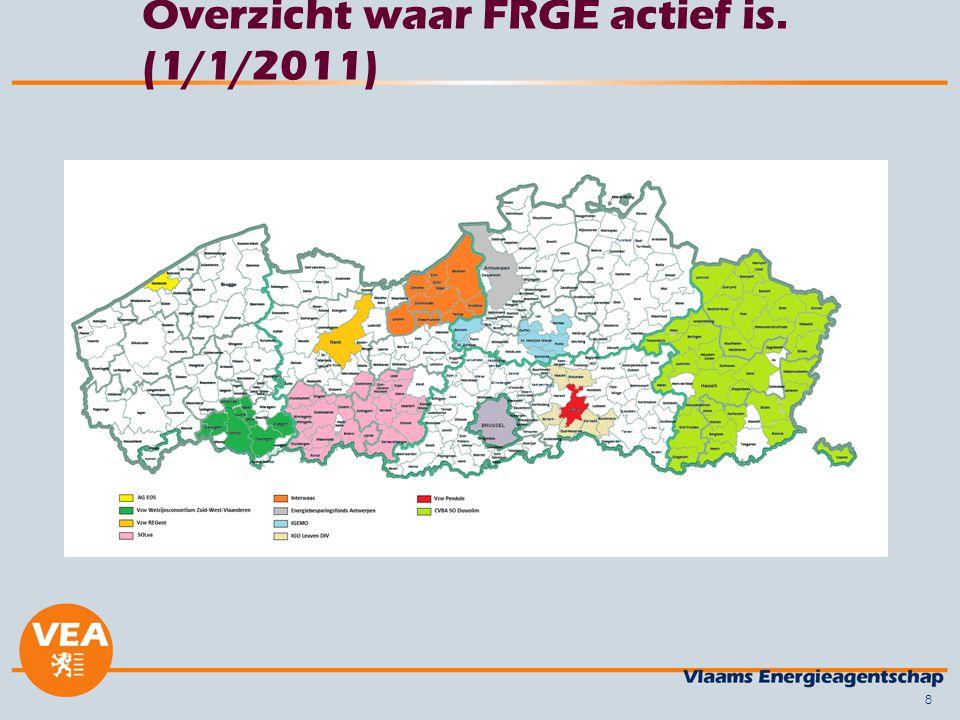 8 Overzicht waar FRGE actief is. (1/1/2011)