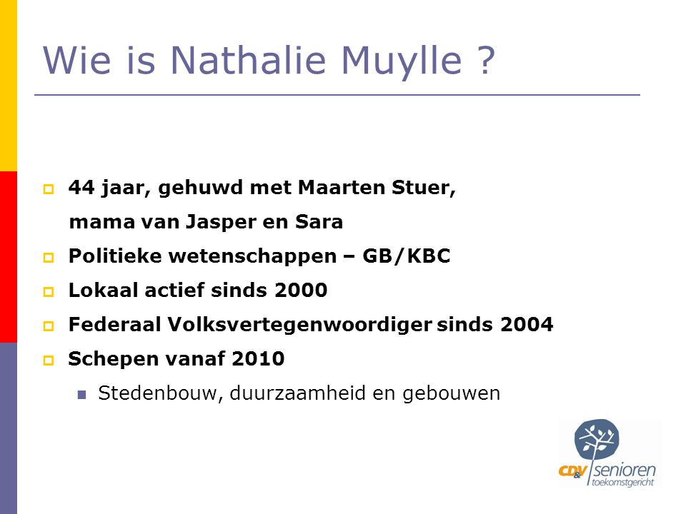 Wie is Nathalie Muylle .