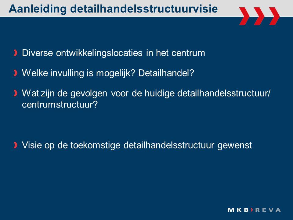 Aanleiding detailhandelsstructuurvisie Diverse ontwikkelingslocaties in het centrum Welke invulling is mogelijk.