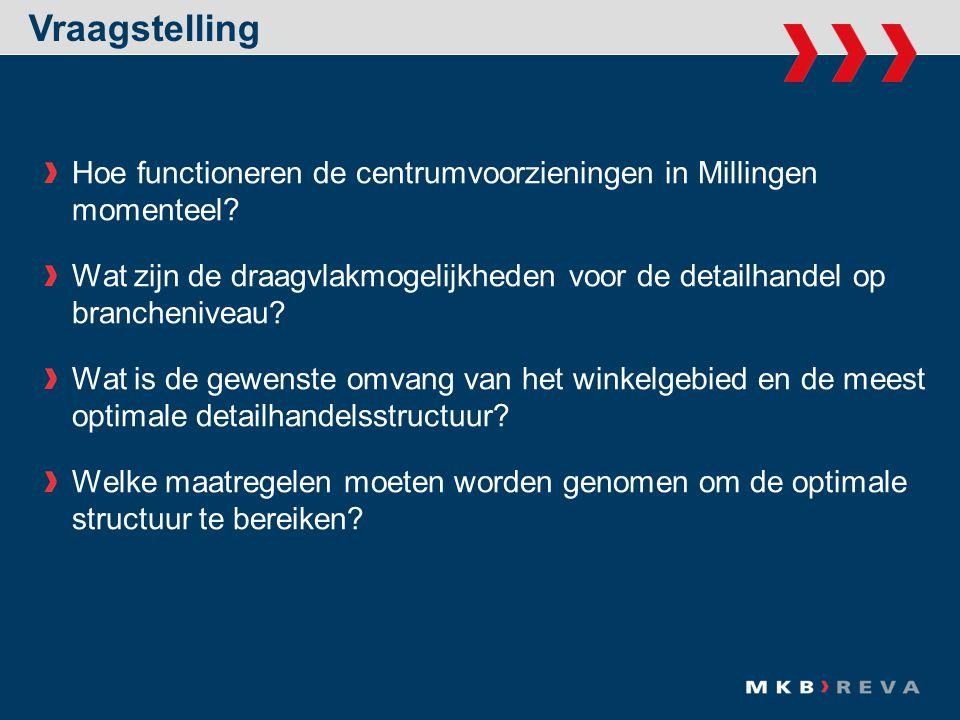 Vraagstelling Hoe functioneren de centrumvoorzieningen in Millingen momenteel.