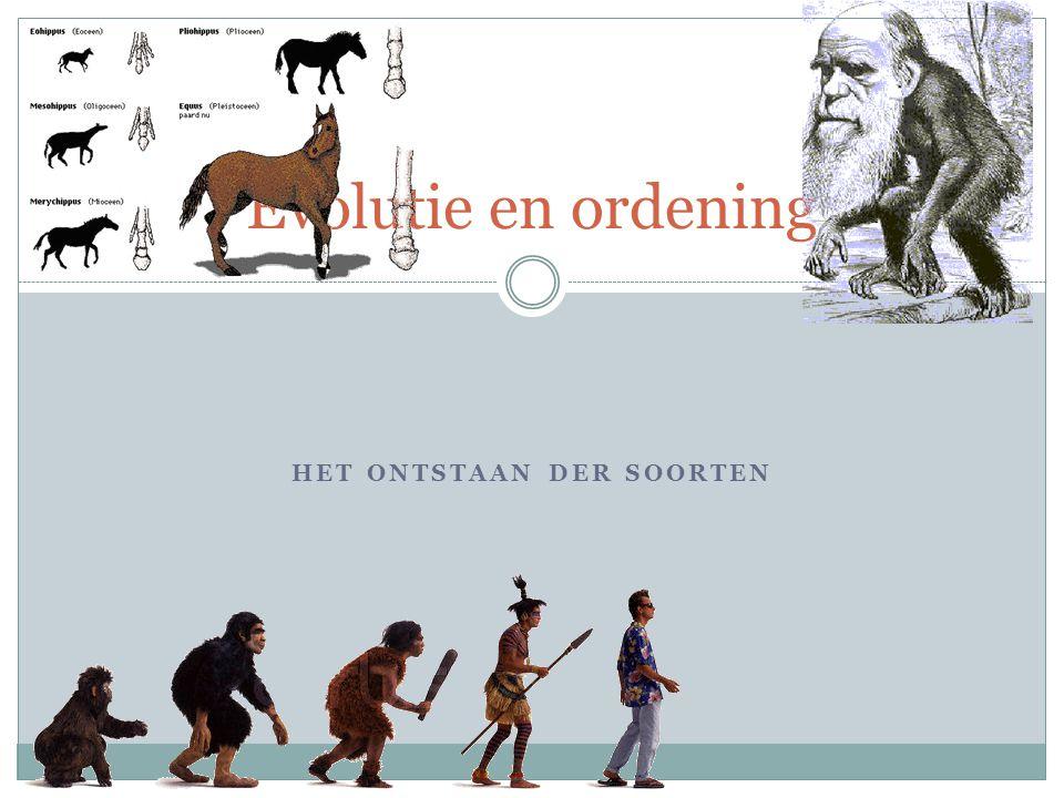 HET ONTSTAAN DER SOORTEN Evolutie en ordening