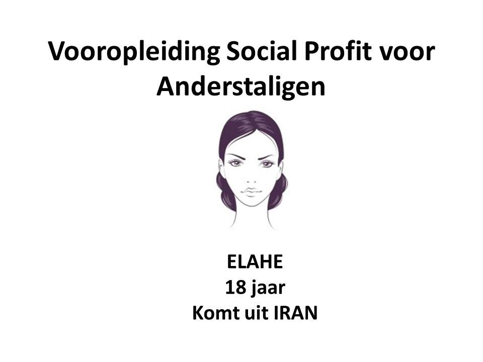 Vooropleiding Social Profit voor Anderstaligen ELAHE 18 jaar Komt uit IRAN