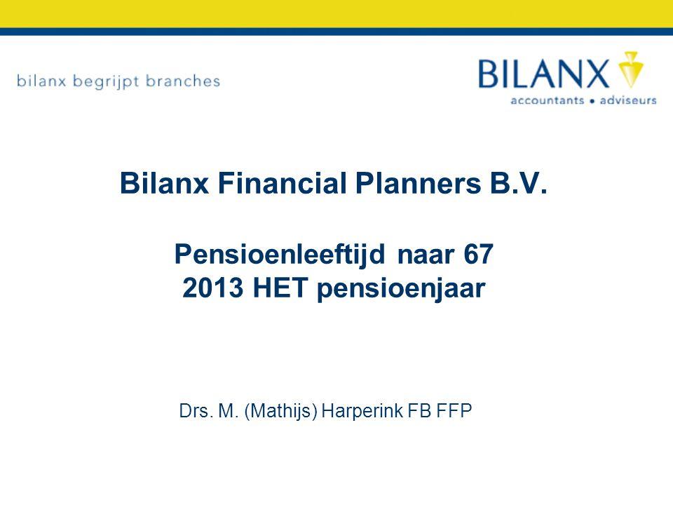 Wat betekent 2013 pensioen 67 voor u als.- Directeur groot aandeelhouder.