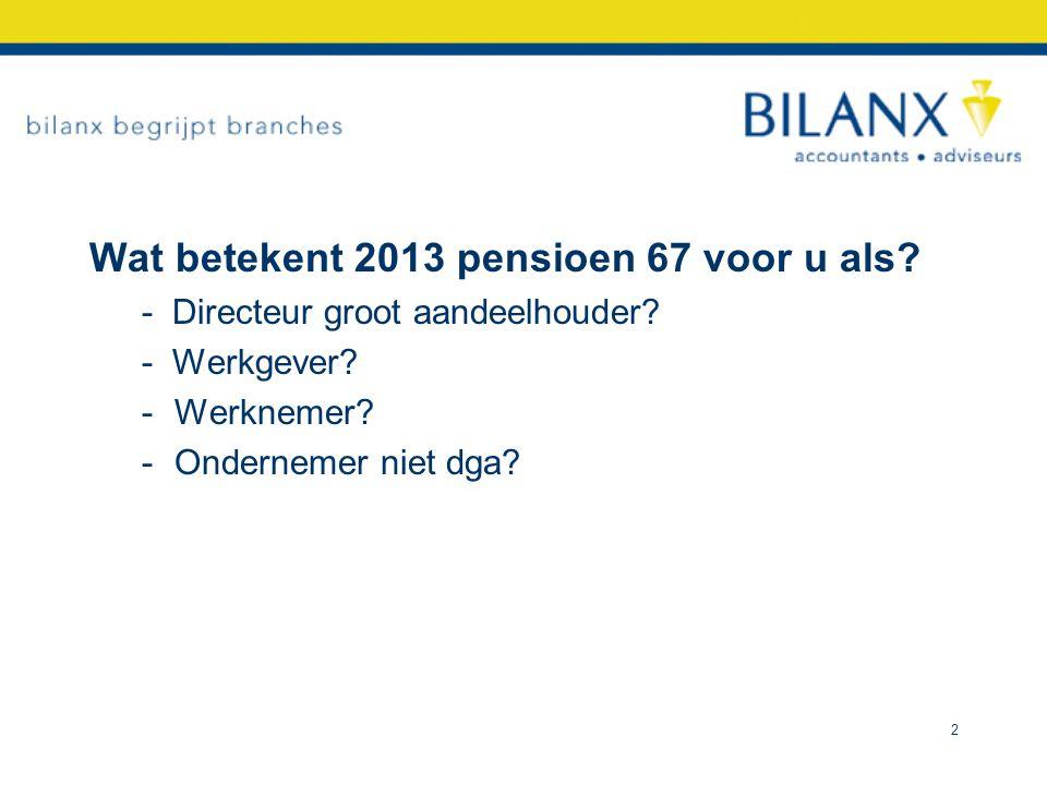 Trends - 2005 nog vroegpensioen 2013 niets meer - Minder pensioen op later tijdstip - Compensatie arbeidsvoorwaarden.