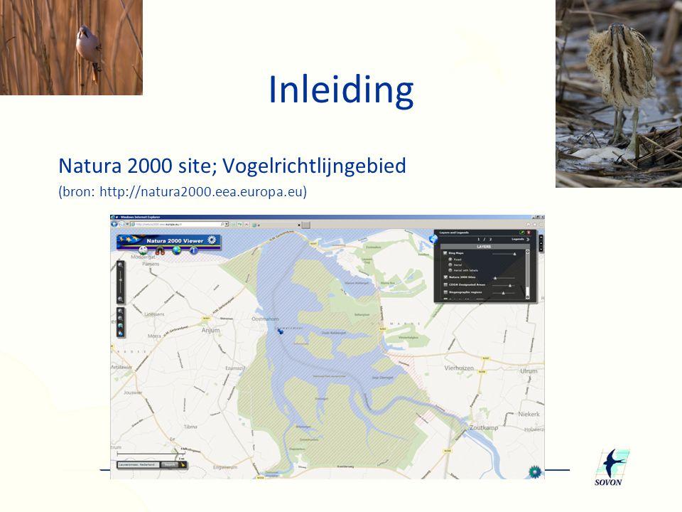 Natura 2000 site; Vogelrichtlijngebied (bron: http://natura2000.eea.europa.eu) Inleiding