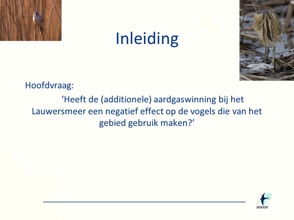 1.Wijken trends in Lauwersmeer af van referentiegebieden.