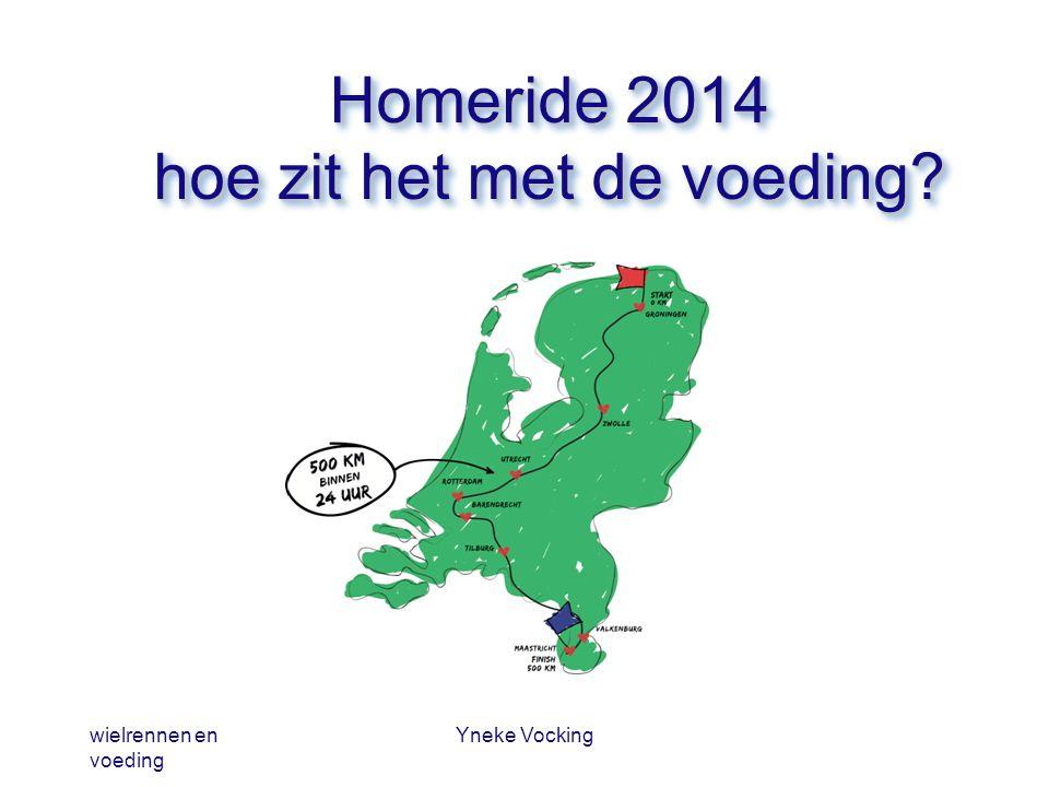 wielrennen en voeding Yneke Vocking Homeride 2014 hoe zit het met de voeding?