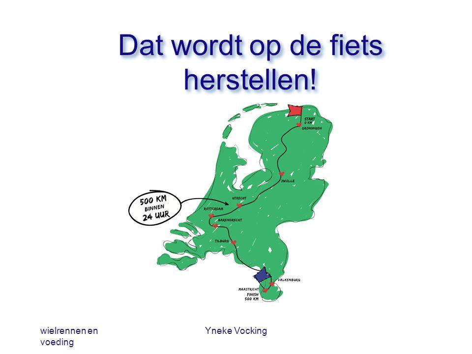 wielrennen en voeding Yneke Vocking Dat wordt op de fiets herstellen!