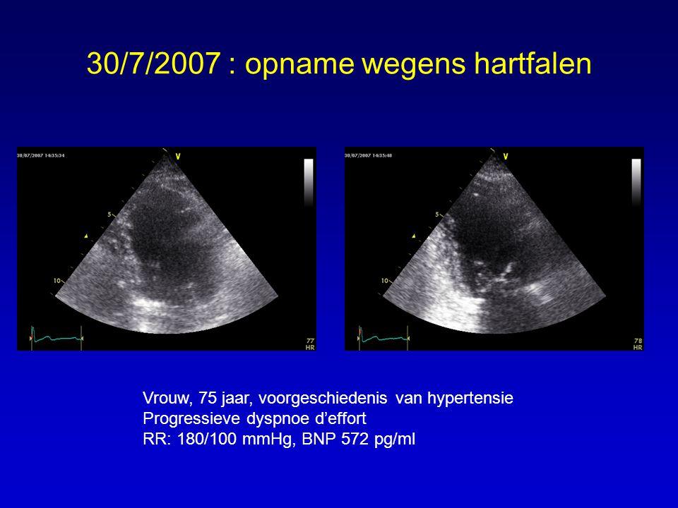 In hoeveel percent van de patienten met symptomen en tekenen van hartfalen blijkt de linker ventrikel pompfunctie normaal .