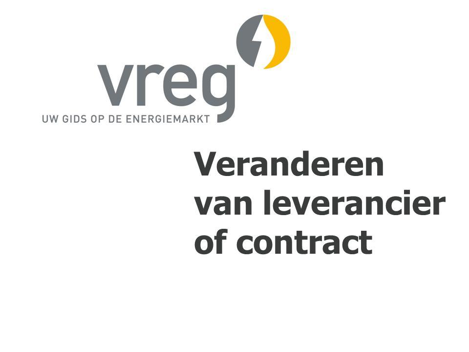 Veranderen van leverancier of contract