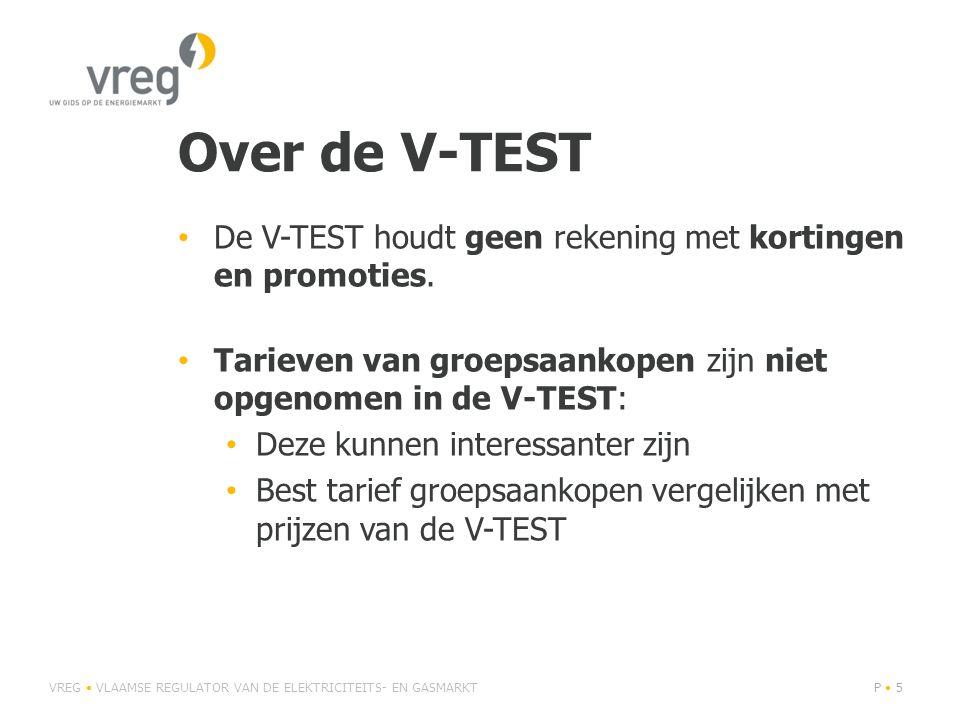 Over de V-TEST • De V-TEST houdt geen rekening met kortingen en promoties.