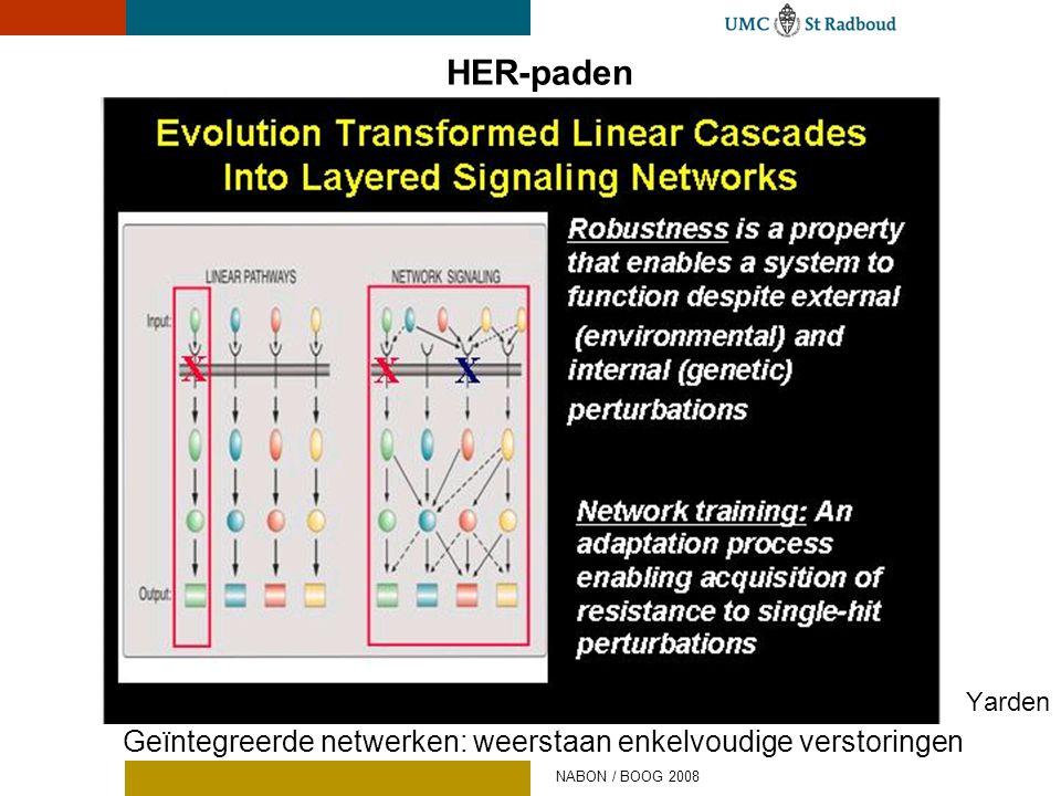 HER-paden Yarden Geïntegreerde netwerken: weerstaan enkelvoudige verstoringen NABON / BOOG 2008