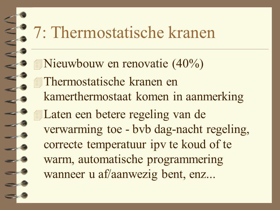 6: Warmtepomp 4 Nieuwbouw en Renovatie (40% - max. 2.770 euro bij nieuwbouw en renovatie) 4 Warmtepomp is milieuvriendelijk alternatief voor klassieke