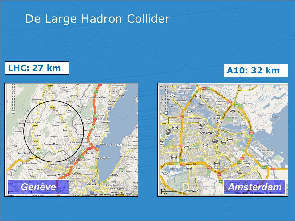 De Large Hadron Collider GenèveAmsterdam LHC: 27 km A10: 32 km