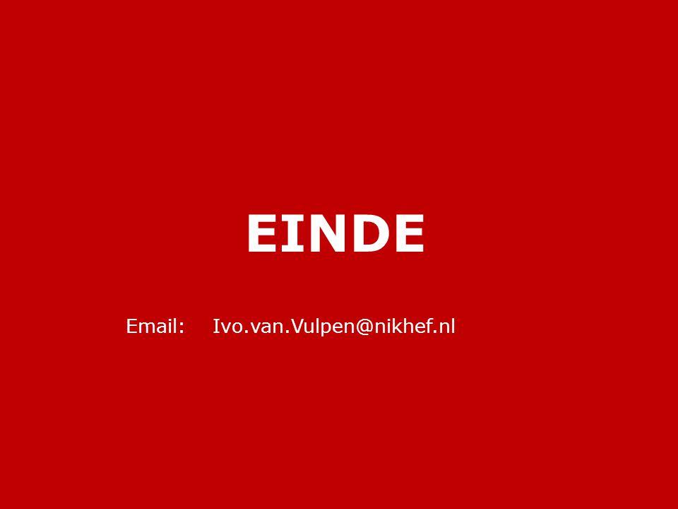 EINDE Email: Ivo.van.Vulpen@nikhef.nl