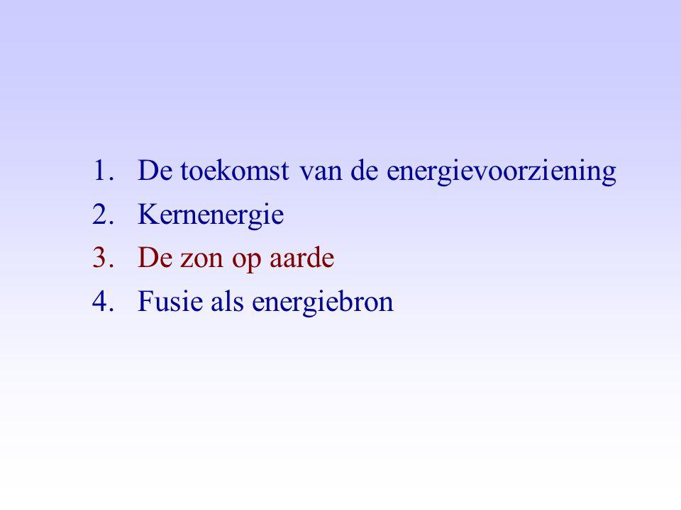 1.De toekomst van de energievoorziening 2.Kernenergie 3.De zon op aarde 4.Fusie als energiebron