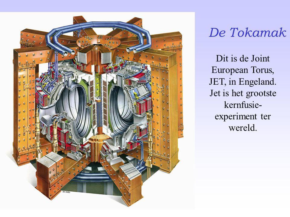 De Tokamak Dit is de Joint European Torus, JET, in Engeland. Jet is het grootste kernfusie- experiment ter wereld.