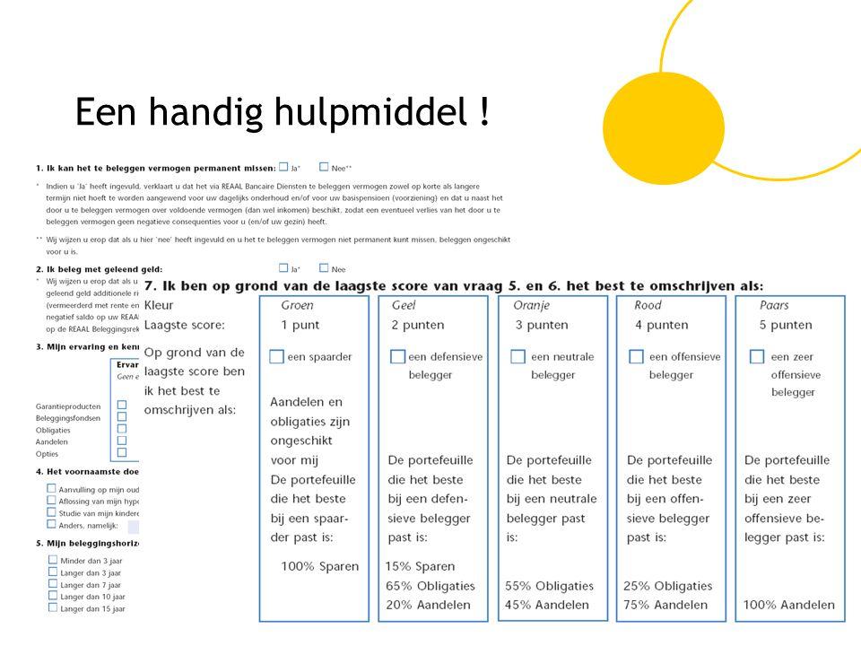 CONGRES DE HYPOTHEEKADVISEUR Een handig hulpmiddel !