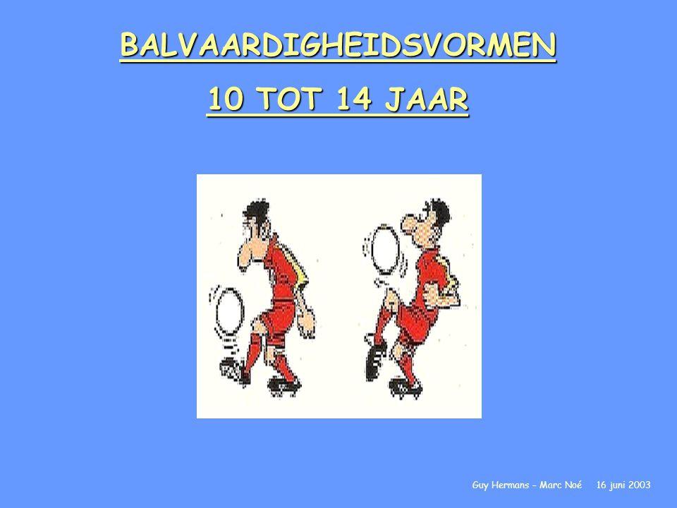 BALVAARDIGHEIDSVORMEN 10 TOT 14 JAAR Guy Hermans – Marc Noé 16 juni 2003