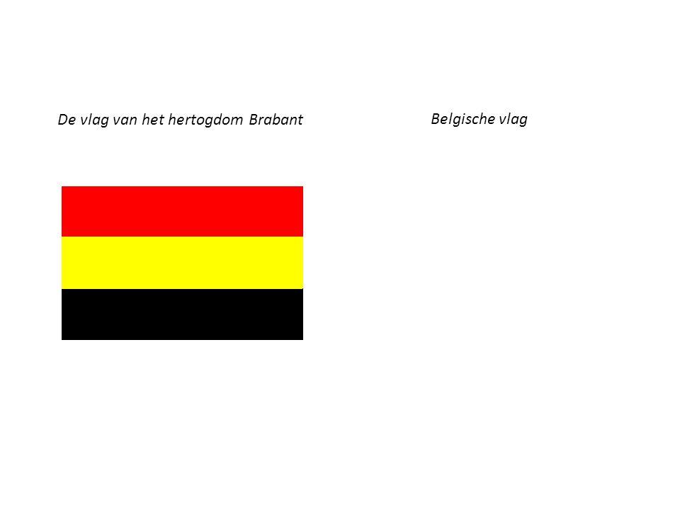 De vlag van het hertogdom Brabant Belgische vlag