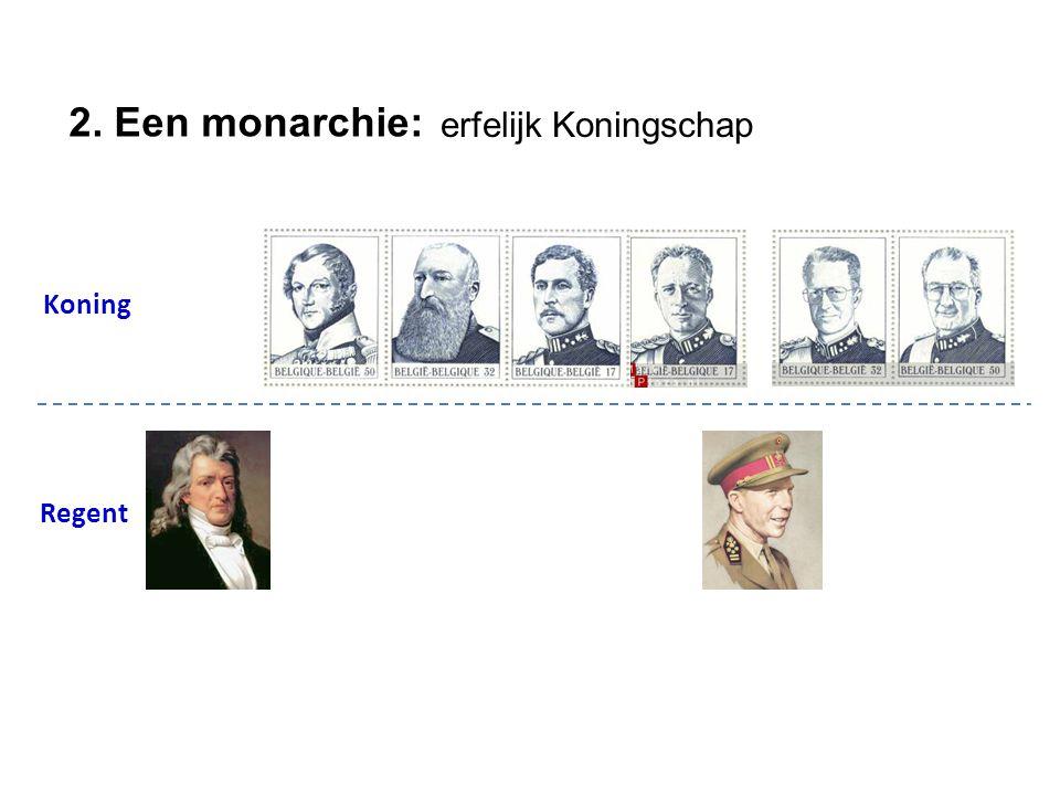 Beknopte stamboom Koning Regent 2. Een monarchie: erfelijk Koningschap