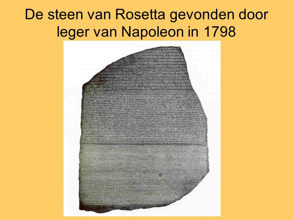 De steen van Rosetta gevonden door leger van Napoleon in 1798