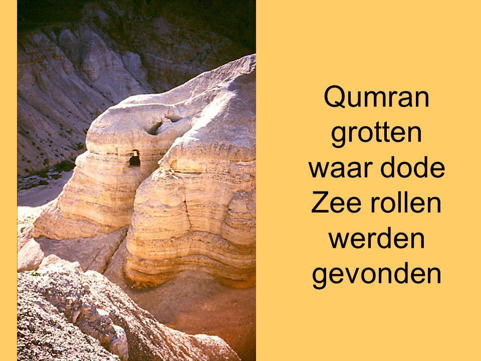 Qumran grotten waar dode Zee rollen werden gevonden