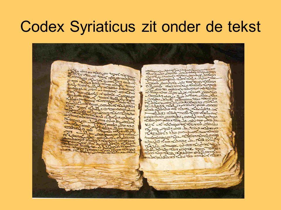 Codex Syriaticus zit onder de tekst
