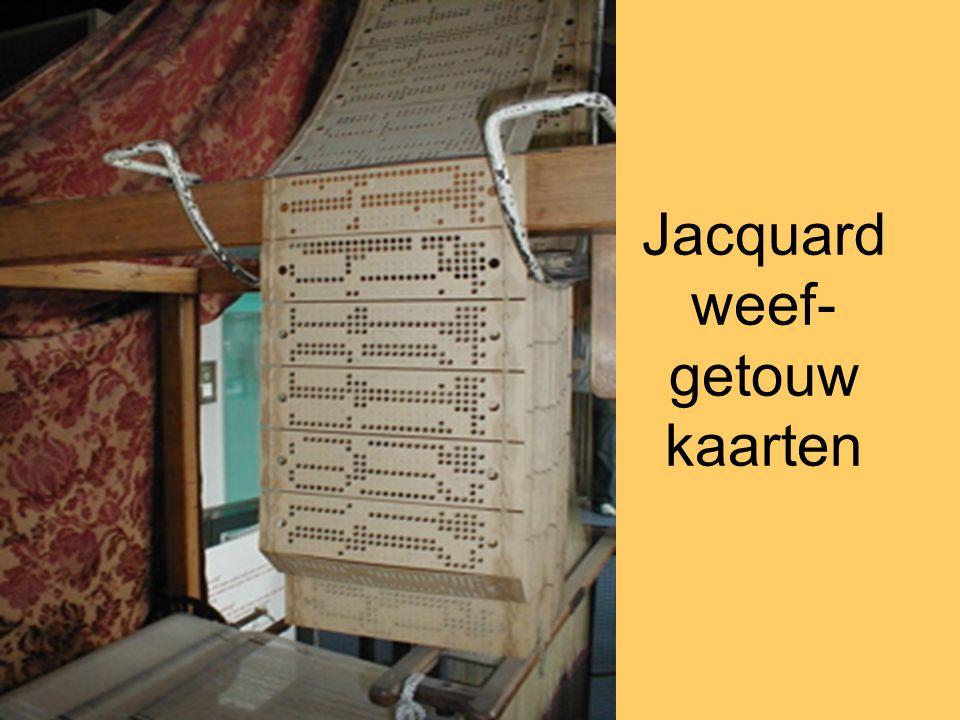 Jacquard weef- getouw kaarten