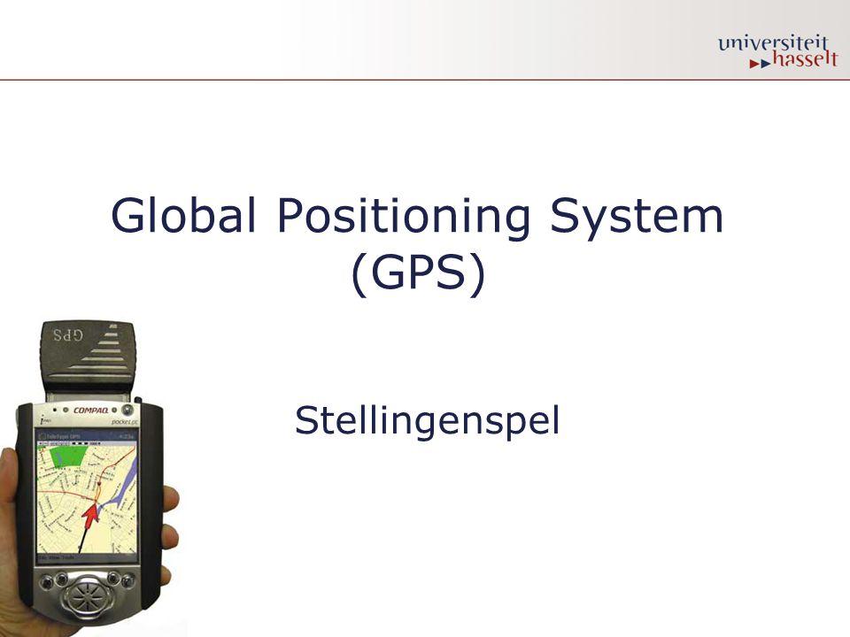 NEE •GPS bestaat uit 3 segmenten: een ruimte-, een controle- en een gebruikerssegment.