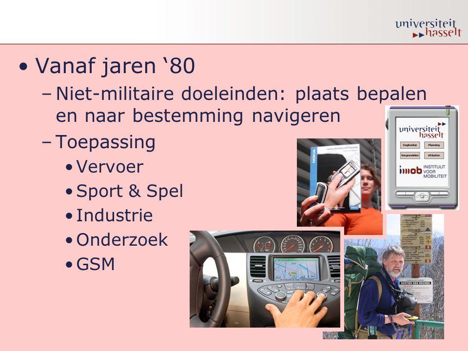 Stelling 10 •Een GPS ontvanger is gemiddeld tot op 15 meter nauwkeurig.